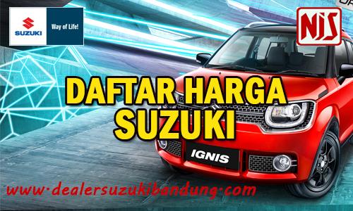 daftar harga mobil suzuki bandung